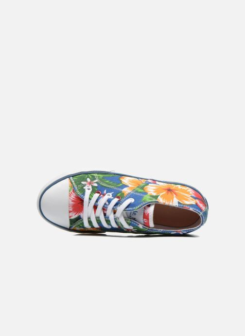 Baskets Little Mary Little Tennis Flower Bleu vue gauche