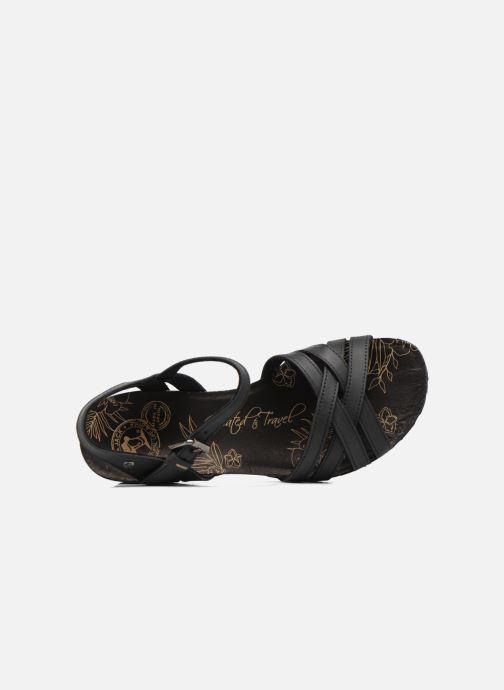 Sandales et nu-pieds Panama Jack Vera Noir vue gauche