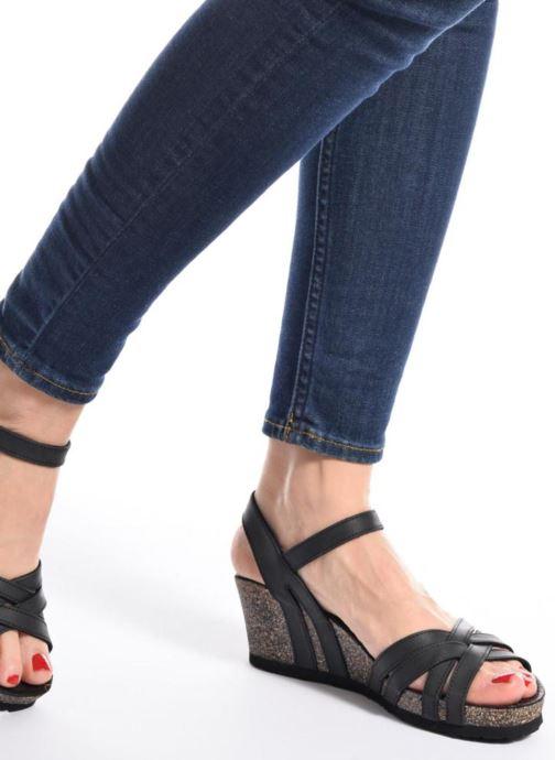 Sandales et nu-pieds Panama Jack Vera Blanc vue bas / vue portée sac