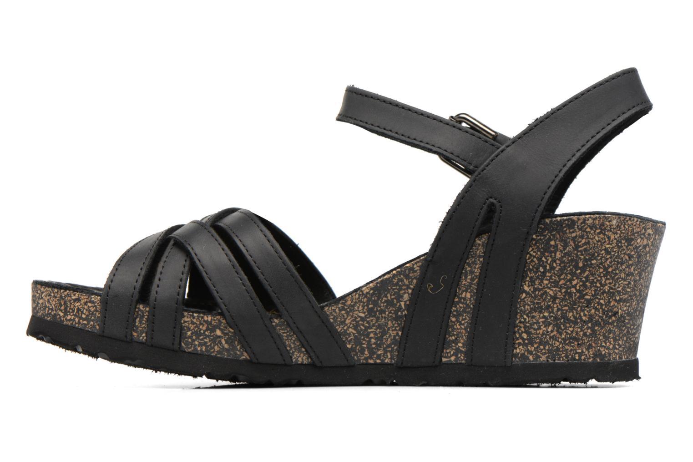 Sandales et nu-pieds Panama Jack Vera Noir vue face