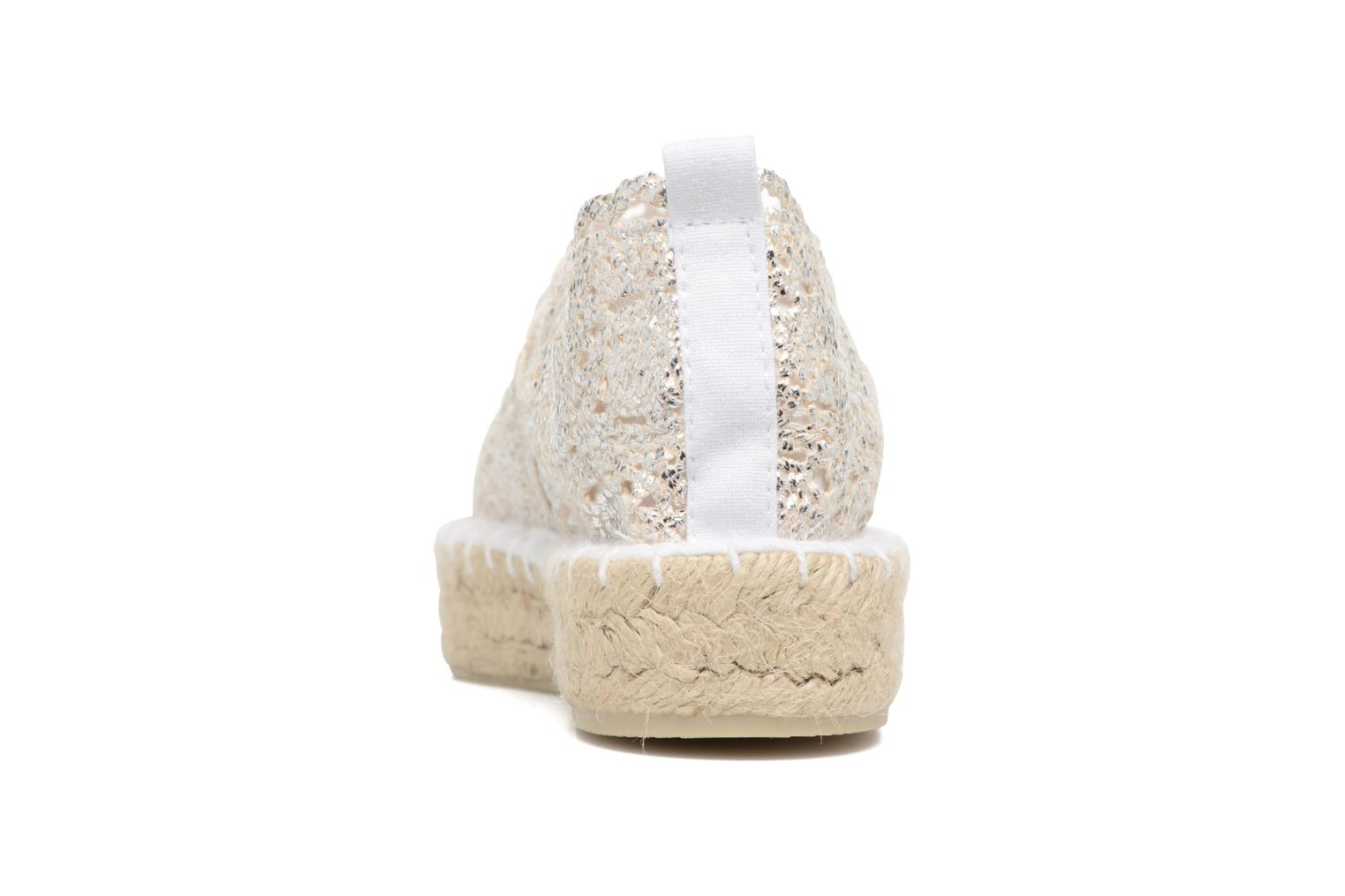 Espadrilles Colors of California Lara 2 Silver view from the right