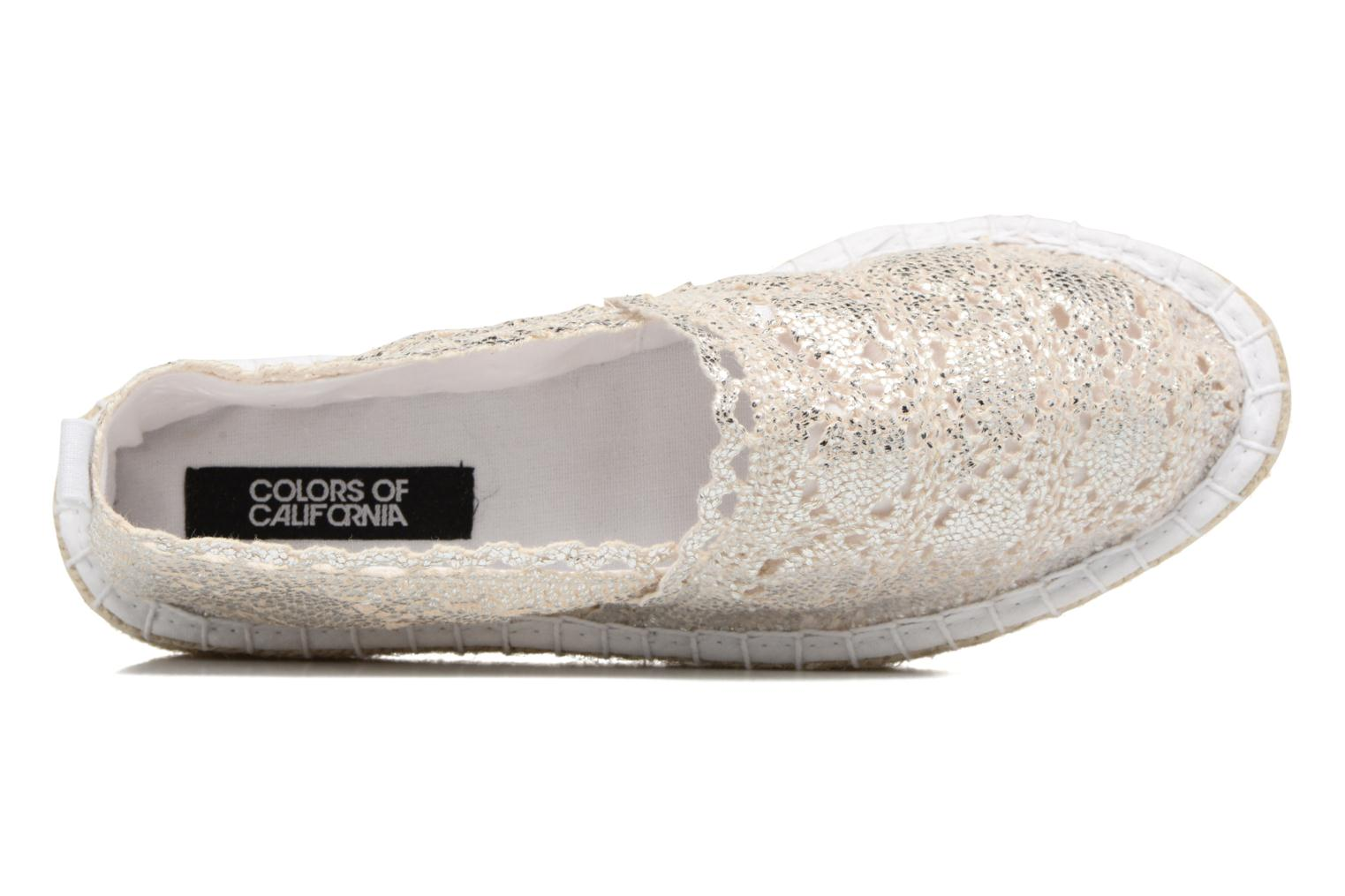 Espadrilles Colors of California Lara 2 Silver view from the left