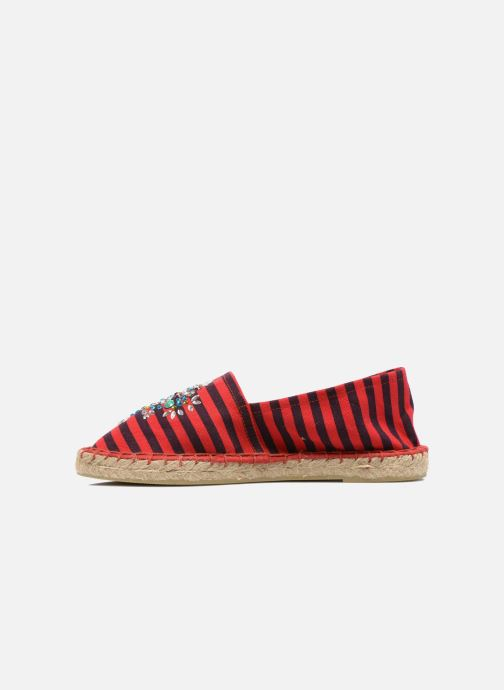 Espadrilles Colors of California Poshpadrille rayure Rood voorkant