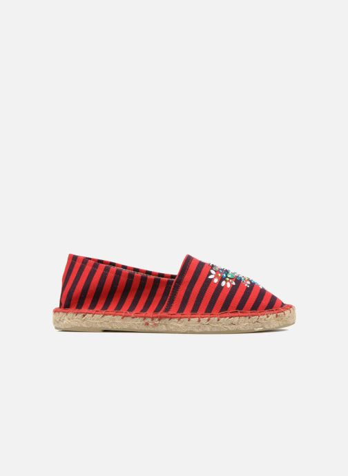 Espadrilles Colors of California Poshpadrille rayure Rood achterkant