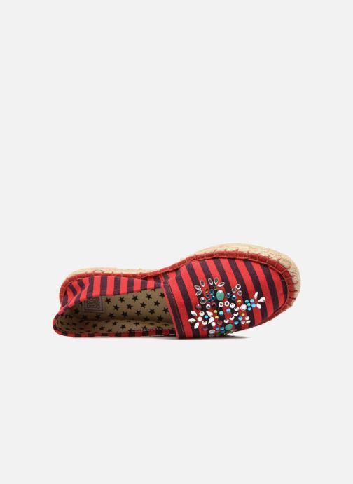 Scarpe di corda Colors of California Poshpadrille rayure Rosso immagine sinistra