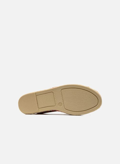 Espadrilles Colors of California Poshpadrille rayure Rood boven