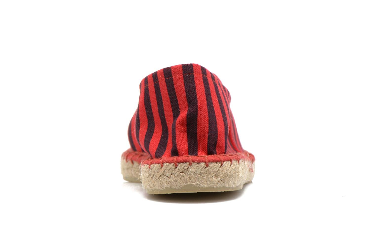 Espadrilles Colors of California Poshpadrille rayure Rouge vue droite