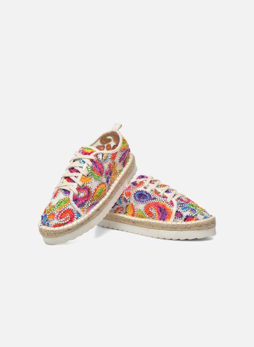 Espadrilles Colors of California Poshpadrille lacet Multicolor 3/4'