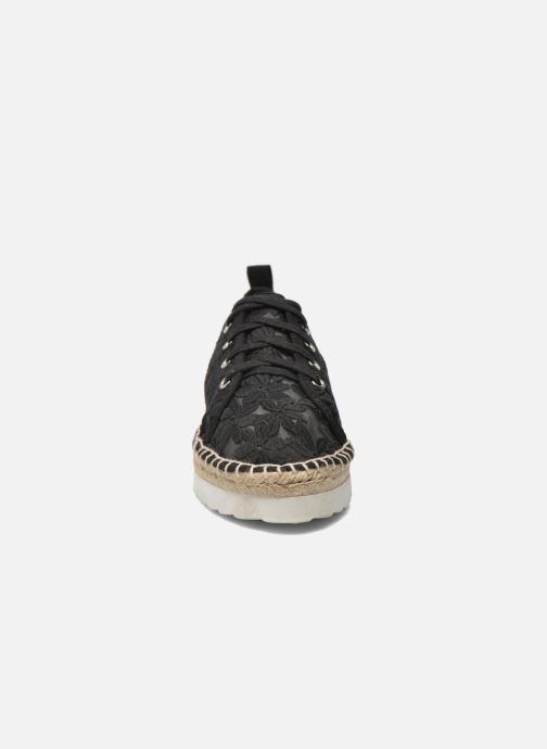 Espadrilles Colors of California Poshpadrille lacet Black model view