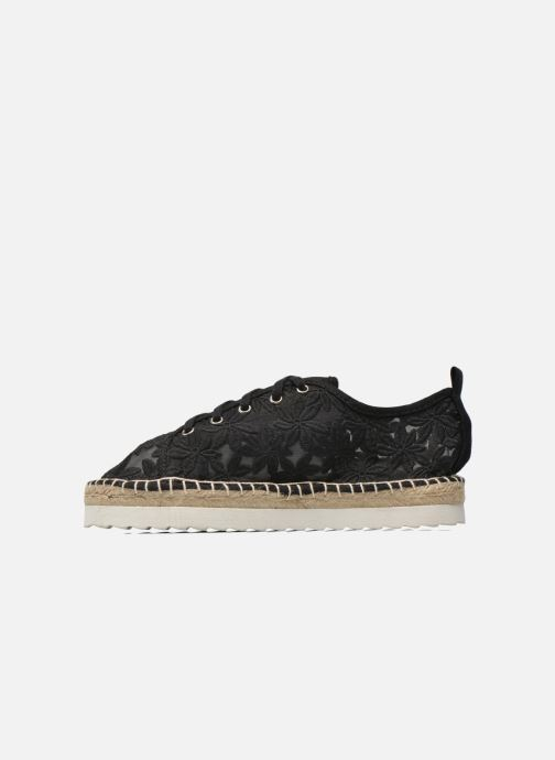 Espadrilles Colors of California Poshpadrille lacet Black front view