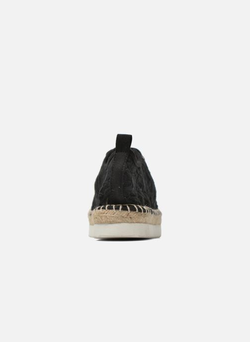 Espadrilles Colors of California Poshpadrille lacet Black view from the right