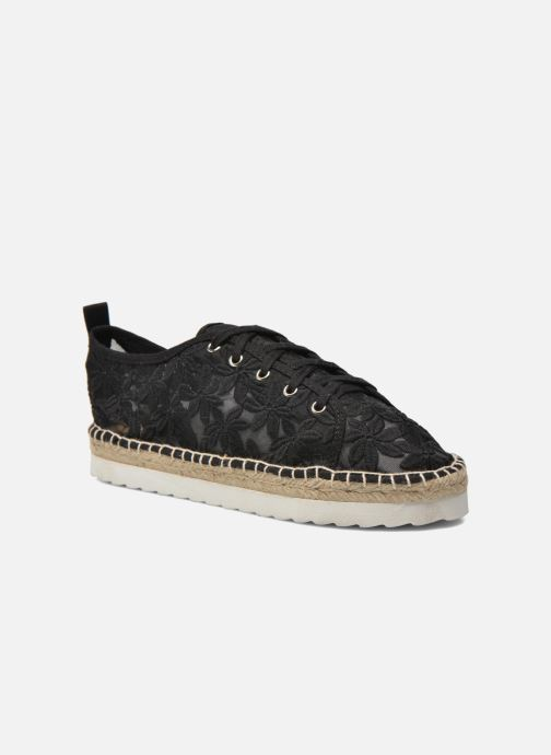 Espadrilles Colors of California Poshpadrille lacet Black detailed view/ Pair view