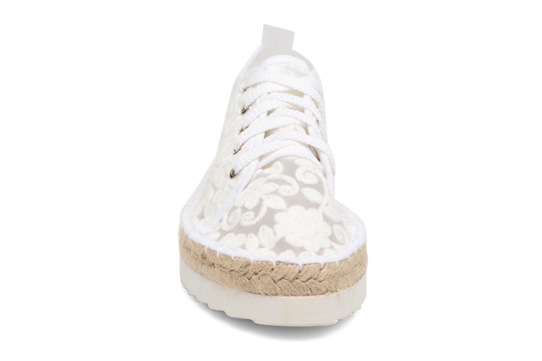 Espadrilles Colors of California Poshpadrille lacet Blanc vue portées chaussures