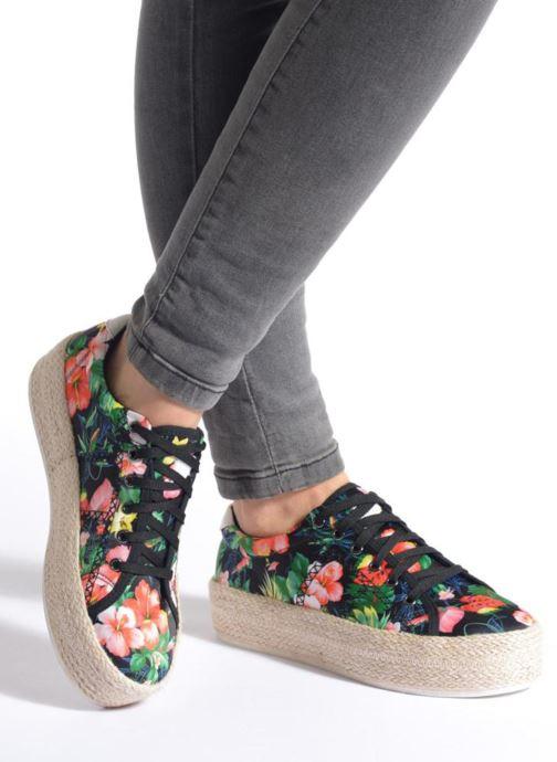 Baskets Colors of California Sneakers Double Sole Multicolore vue bas / vue portée sac