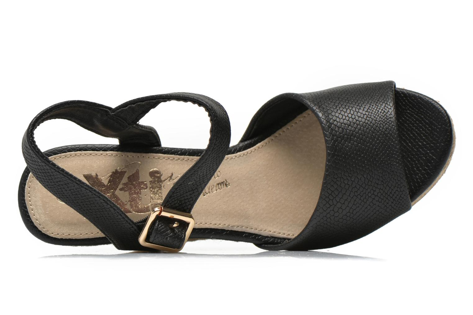 Sandals Xti Hobby 45855 Black view from the left