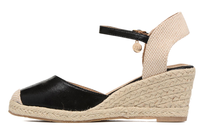 Sandalen Xti Brownie 45061 schwarz ansicht von vorne
