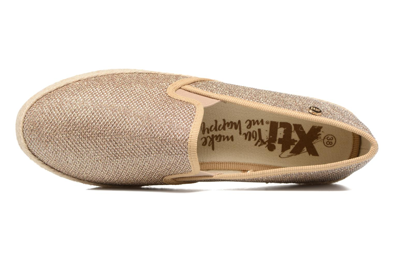 Espadrilles Xti Arianne 45215 Bronze and Gold view from the left