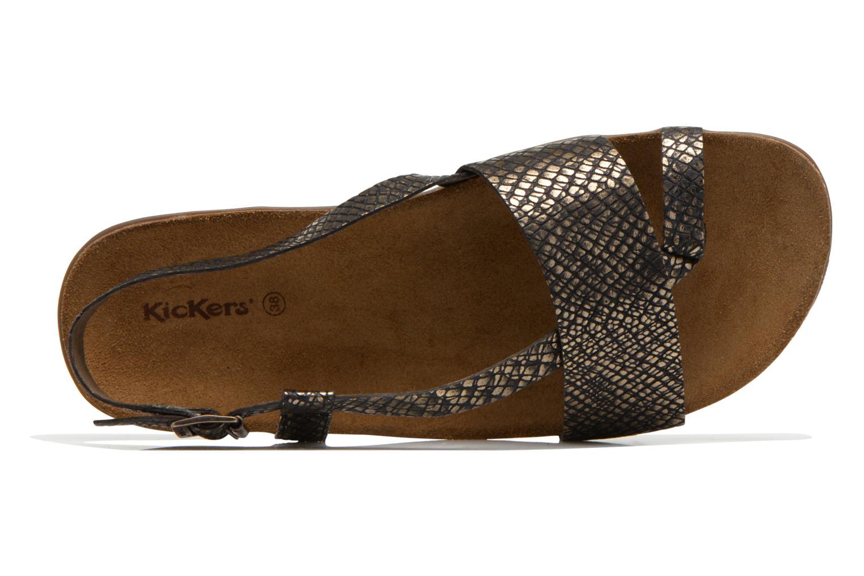 Sandalen Kickers Alchimie schwarz ansicht von links