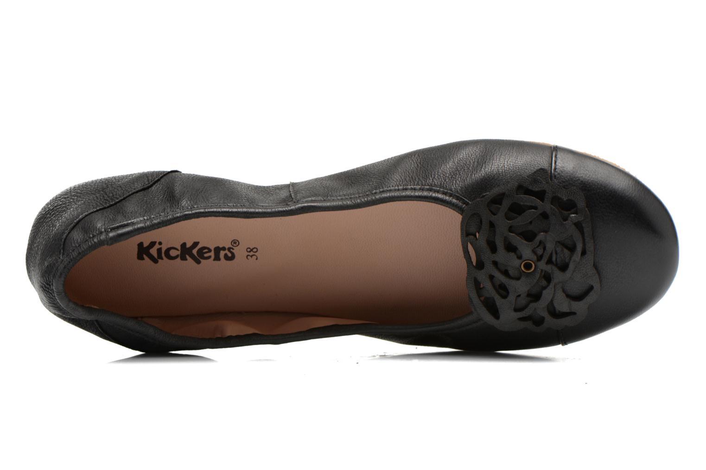 Ballerines Kickers Liber Noir vue gauche