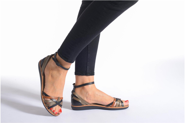 Sandales et nu-pieds Kickers Hypocrate Marron vue bas / vue portée sac