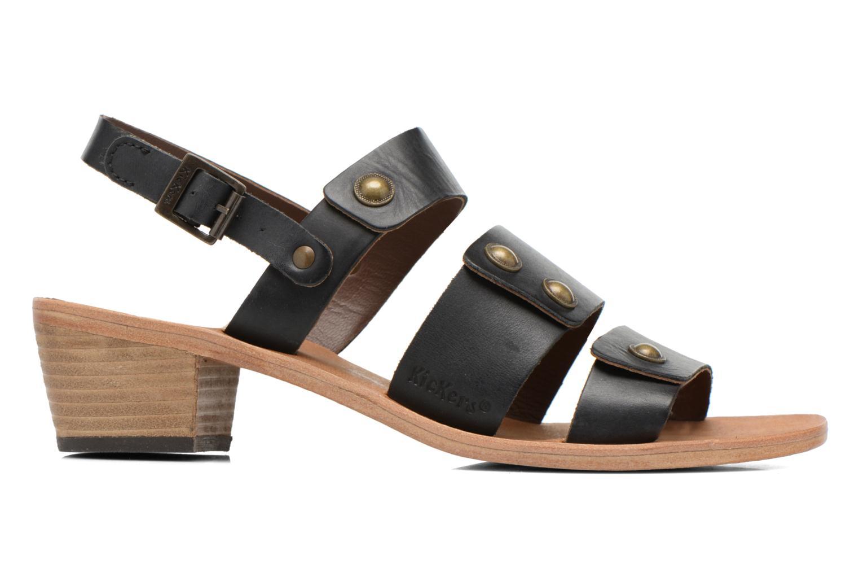 Sandales et nu-pieds Kickers Khôol Noir vue derrière