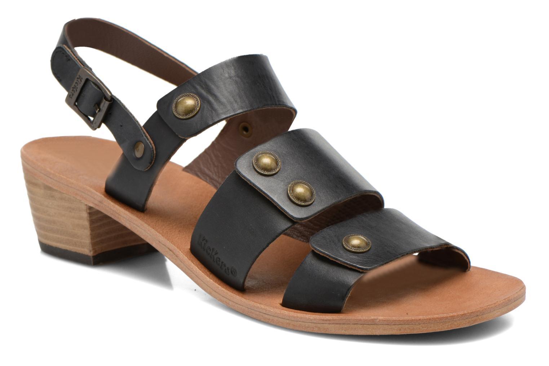 Sandales et nu-pieds Kickers Khôol Noir vue détail/paire