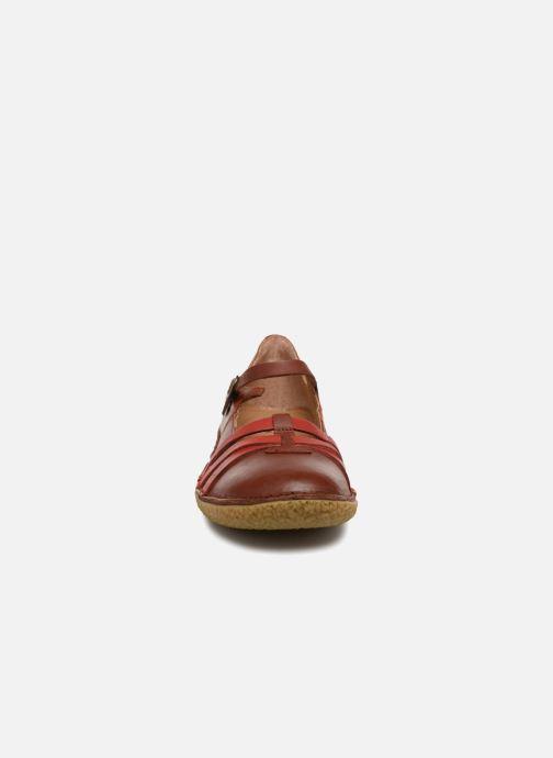 Ballerines Kickers Hibou Marron vue portées chaussures
