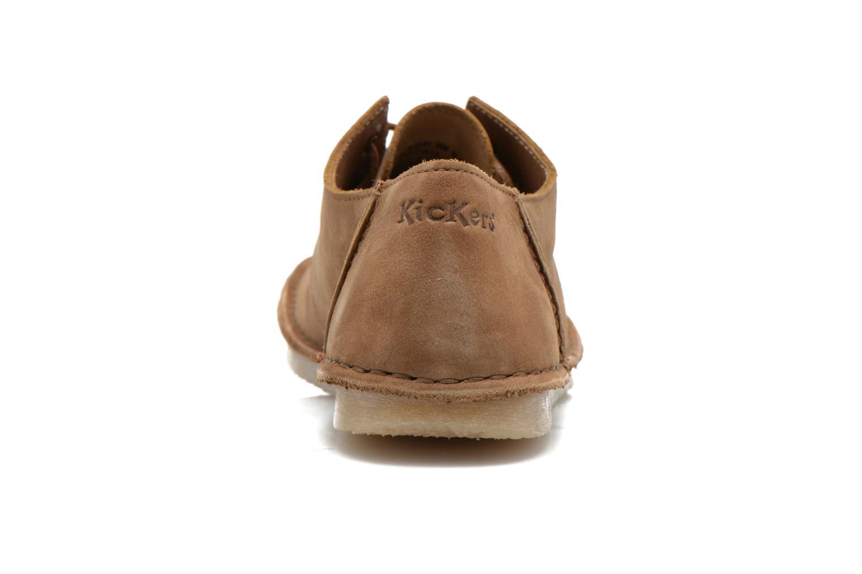 Zapatos con cordones Kickers Mystilace Marrón vista lateral derecha