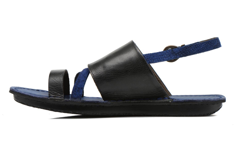 Sandales et nu-pieds Kickers Wawa Bleu vue face