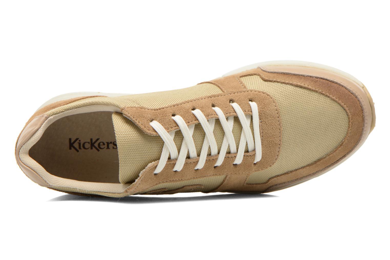 Baskets Kickers Nielo F Beige vue gauche