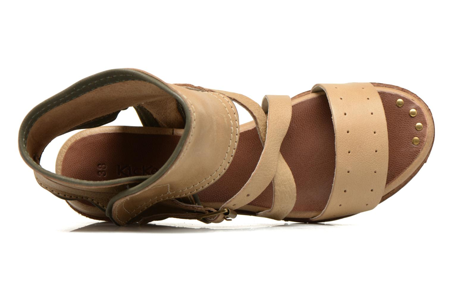 Sandalen Kickers Casertyn Beige links