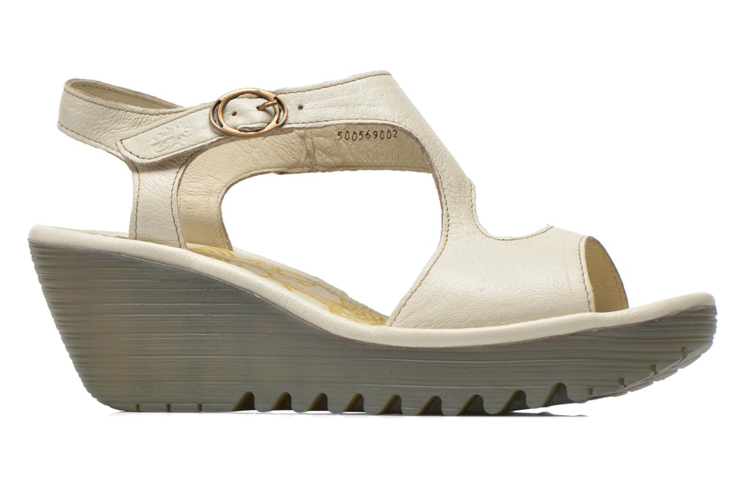 Sandals Fly London Yanca White back view