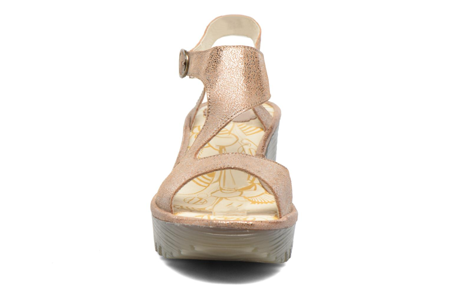 Sandals Fly London Yanca Beige model view