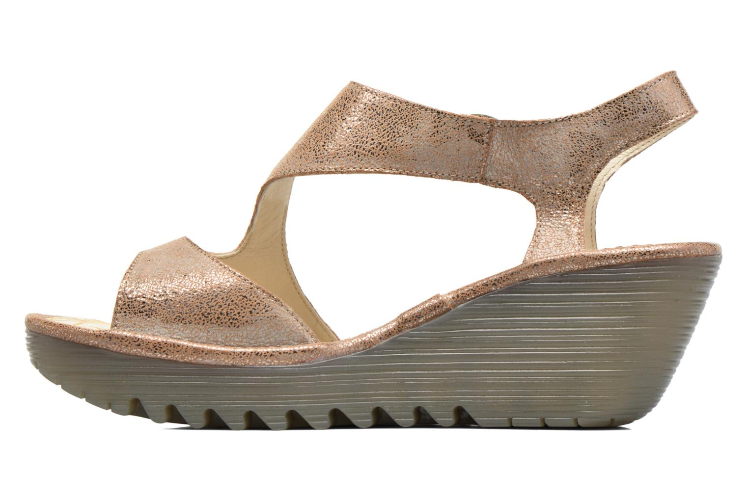 Sandals Fly London Yanca Beige front view