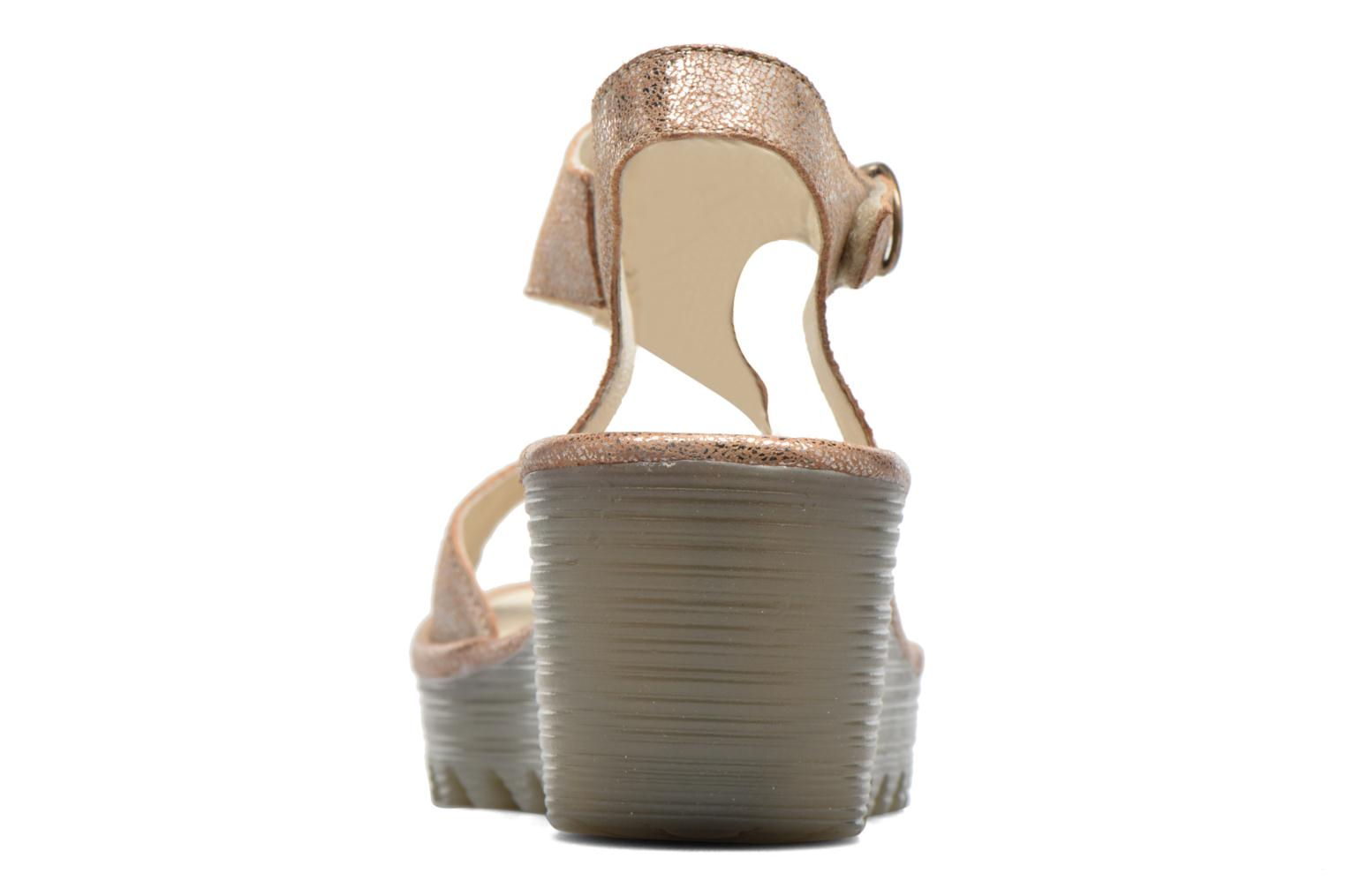 Sandals Fly London Yanca Beige view from the right