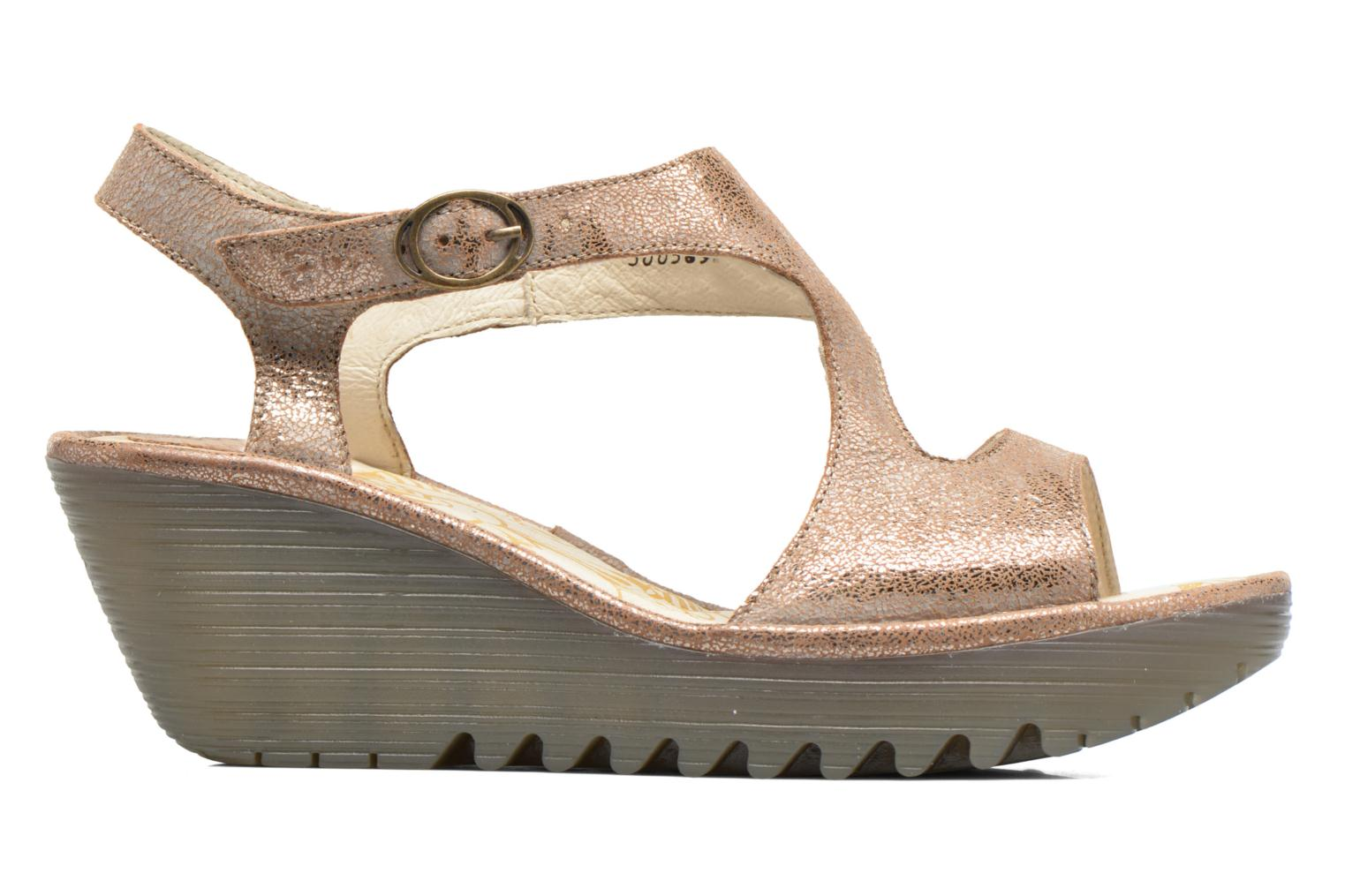 Sandals Fly London Yanca Beige back view