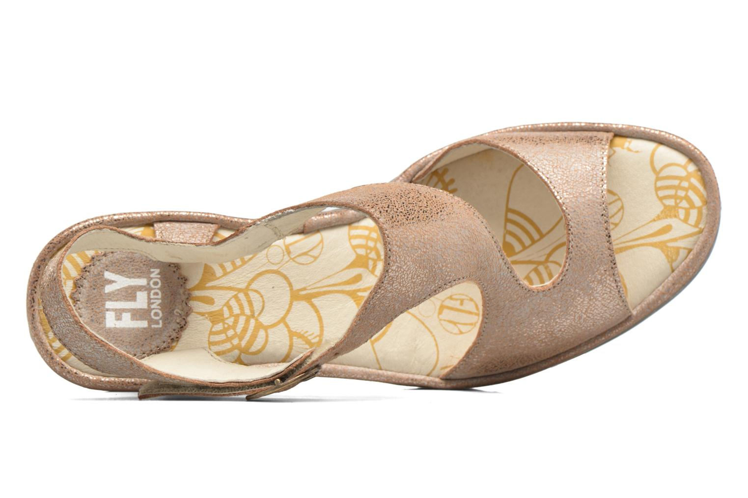 Sandals Fly London Yanca Beige view from the left