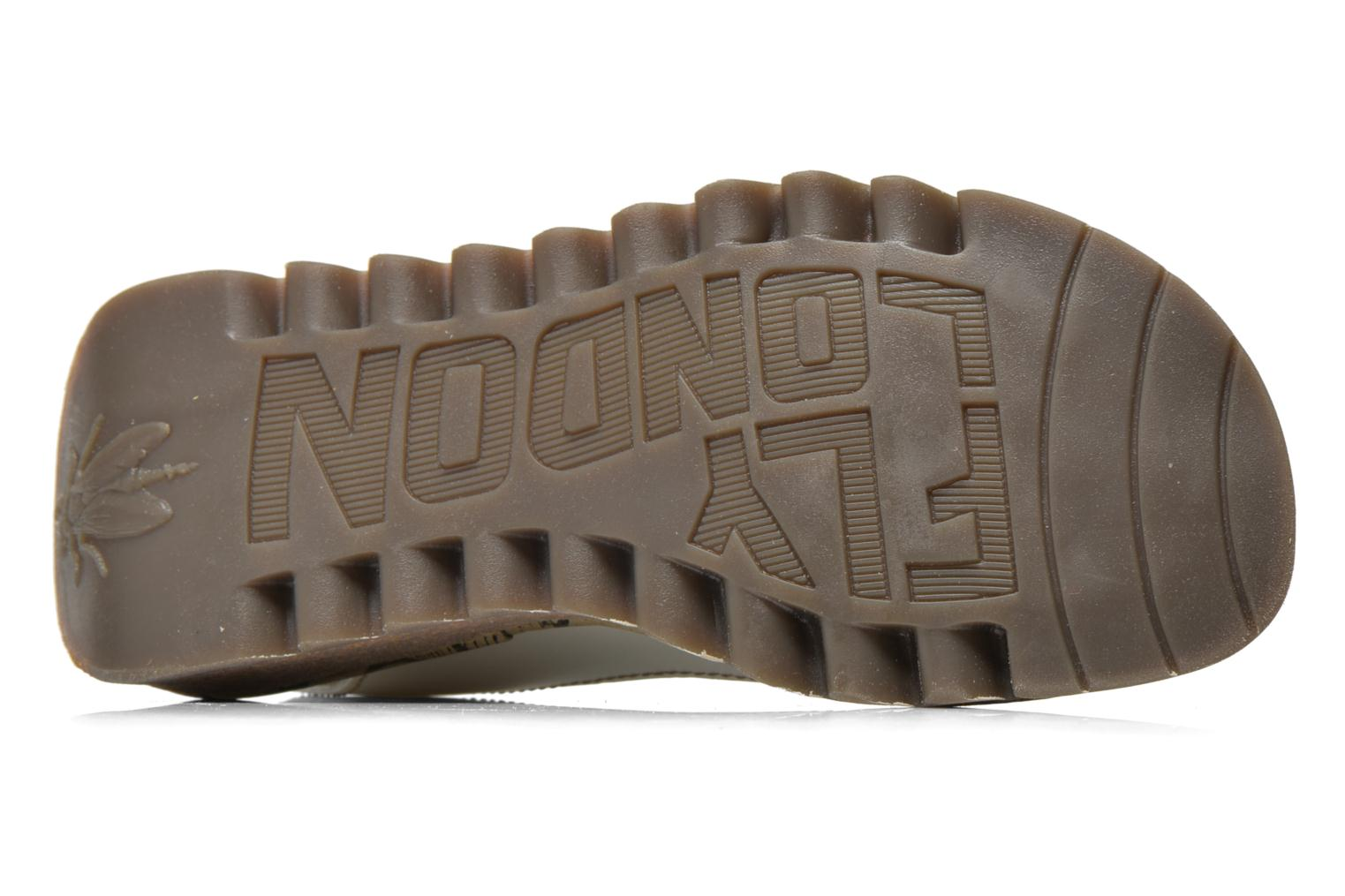 Sandalias Fly London Tram 723 Blanco vista de arriba