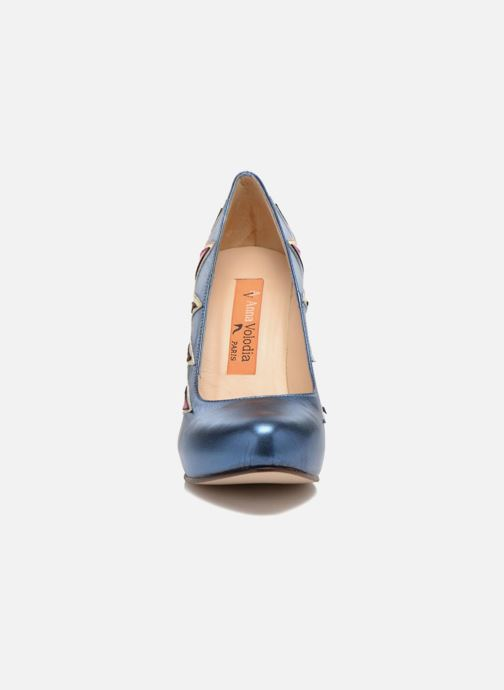 Escarpins Anna Volodia Candela Bleu vue portées chaussures