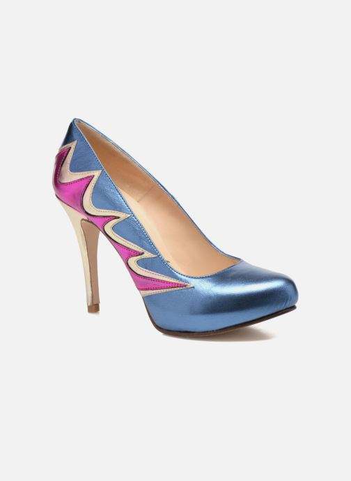 High heels Anna Volodia Candela Blue detailed view/ Pair view