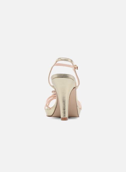 Sandales et nu-pieds Anna Volodia Flora 3 Or et bronze vue droite