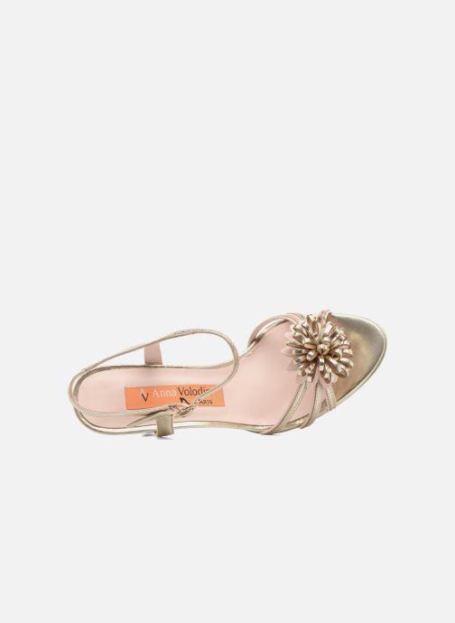 Sandales et nu-pieds Anna Volodia Flora 3 Or et bronze vue gauche