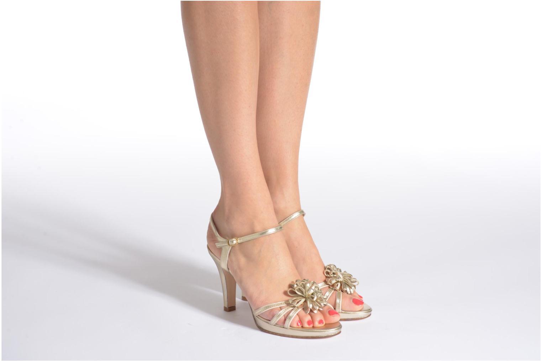 Sandales et nu-pieds Anna Volodia Flora 3 Or et bronze vue bas / vue portée sac