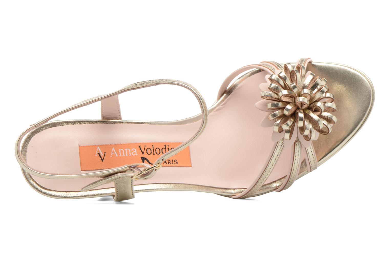 Sandali e scarpe aperte Anna Volodia Flora 3 Oro e bronzo immagine sinistra