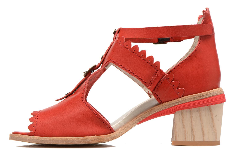 Sandales et nu-pieds Dkode Genie Rouge vue face