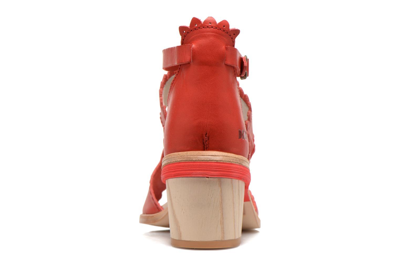Sandales et nu-pieds Dkode Genie Rouge vue droite