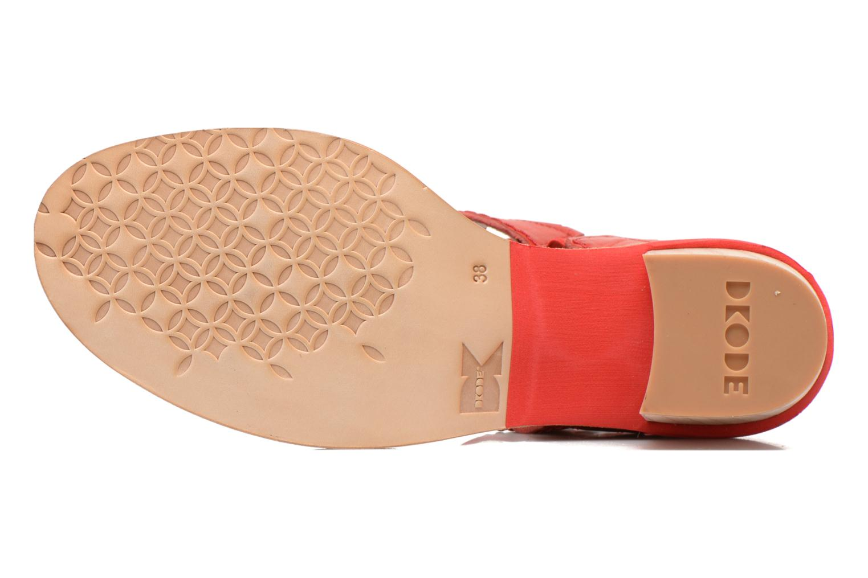 Sandales et nu-pieds Dkode Genie Rouge vue haut