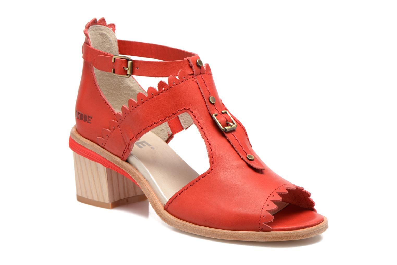 Sandales et nu-pieds Dkode Genie Rouge vue détail/paire