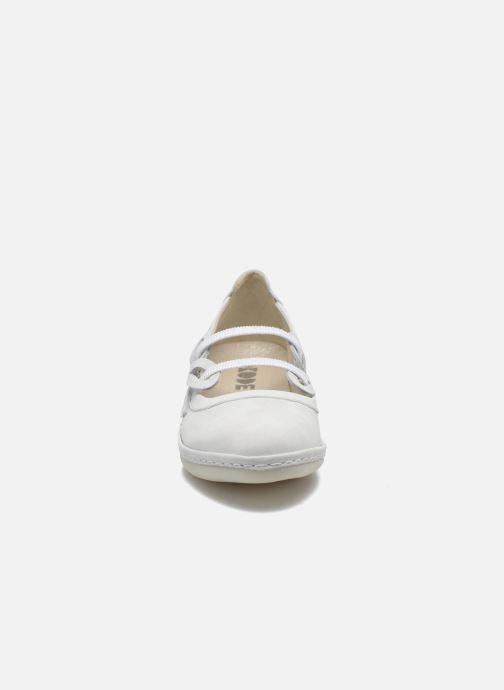 Ballerines Dkode Nilda Blanc vue portées chaussures