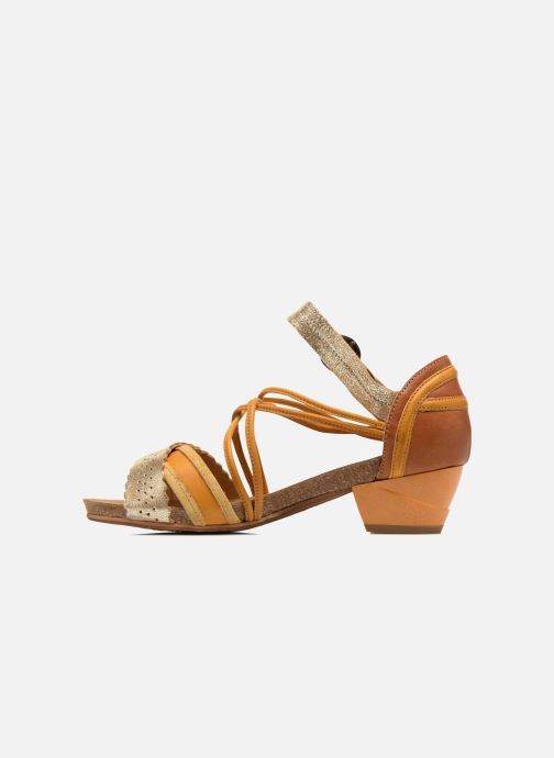 Sandales et nu-pieds Dkode Rain Jaune vue face